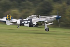 Mustang (Graham Paul Spicer) Tags: uk british shuttleworth collection oldwarden airfield airshow display aviation aircraft plane flying mustang northamerican usaaf military us warplane vintage preserved classic fighter ww2 p51