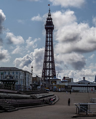 Blackpool. A day out. . . (CWhatPhotos) Tags: blackpool lancs lancashire north sand photographs photograph pics pictures pic picture image images foto fotos photography artistic cwhatphotos that have which with contain epl9 olympus esystem four thirds digital camera lens view 43 fit mft micro promenade seaside holiday august 2019 summer resort pleasure fun fair sky skies fence sea irish prom walk flickr tower blackpooltowerentertainment blackpooltower clouds cloud cloudy blue