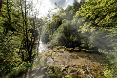 Forêt jurassienne (◄Laurent Moulin photographie►) Tags: foret jurassienne perte de l ain tuffiere rivière cascade cours deau rayon soleil paysage landscape sublime super nikon d750 samyang 14 mm france