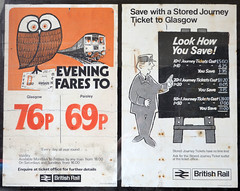 Posters (R~P~M) Tags: train railway station poster britishrail wemyssbay renfrewshire scotrail scotland uk unitedkingdom greatbritain