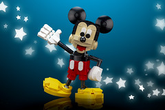 Mickey Mouse (buildbetterbricks) Tags: lego disney instructions mickeymouse buildbetterbricks