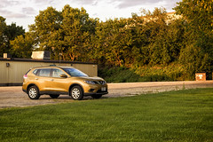 Gold (jkotrub) Tags: color colorful coloring2019 summer sunshine sun sunset alone empty golden hour car outdoors vehicle gold yellow shiny drive orange work late escape