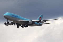 Korean Air 747-8 (nickchalloner) Tags: hl7644 boeing 7478 7478i intercontinental b747 747 8 8i korean air ke kal london heathrow airport lhr egll last passenger