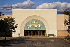 Sea Green (jkotrub) Tags: color colorful coloring2019 summer sunshine sun sunset alone empty golden hour green seagreen facade architecture lines abandoned entrance door doors mall dead deadmall