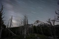 30 Minutes of Starlight. (Gary Randall) Tags: gar07242 longexposure startrails nightsky mthood mthoodnationalforest mounthood hoodriver stars mountain cascademountains