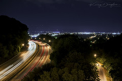 Night Time Rush (KD Rail Photography) Tags: highway nightexposure nighttime nightlife nightlight urbanlife longexposure chattanooga tennesseevalley tennessee lights streetlights summerevening