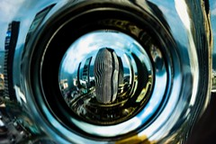 dancing skyline (ezra yusuf) Tags: architecture skyline urban city spiral color image shape experimental blurred art blurry blur