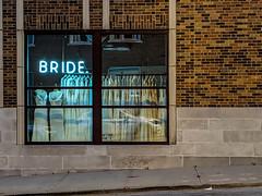 Bride (jolynne_martinez) Tags: kansascity missouri crossroads crossroadsartsdistrict brick building shop wedding window bride reflection googlepixel