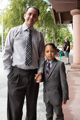 Sunday's Best (GoodLifeErik) Tags: morning pacificphotographicsociety carlsbad california fatherandson posed sunday suitandtie care flickrfriday