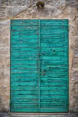 Doors of Matera (Leaning Ladder) Tags: matera italy italia basilicata sassi doors colors aqua crusty canon 7d mkii 7dmkii leaningladder