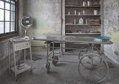Inpatient testing. (Ewski Images) Tags: demolished sony medicalequipment medical stretcher mentalhospital asylum hospital exploration explore abandoned decay