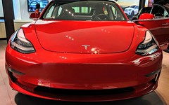 Teslas don't have teeth (Bennilover) Tags: battery batteries car automobiles tesla future toothless nogrill mall
