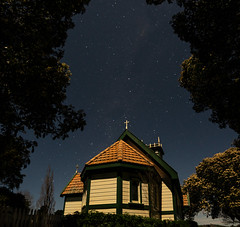 32 of 52 Weeks Outtake (Lyndon (NZ)) Tags: week322019 startingtuesdayaugust062019 52weeksthe2019edition night ilce7m2 sony church stars sky architecture outdoors outtake