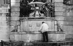The streets of Matera (Leaning Ladder) Tags: matera italy italia basilicata sassi blackandwhite bw fountain canon 7d mkii 7dmkii leaningladder