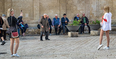 A show for the old men (Leaning Ladder) Tags: matera italy italia basilicata sassi street canon 7d mkii 7dmkii leaningladder