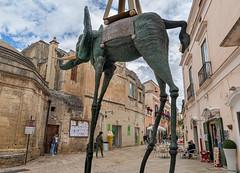 Space Elephant (Leaning Ladder) Tags: matera italy italia basilicata sassi sculpture dali elephant canon 7d mkii 7dmkii leaningladder