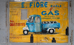 The streets of Bari (Leaning Ladder) Tags: bari italy italia puglia apulia signs yellow canon 7d mkii 7dmkii leaningladder
