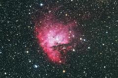 Pacman Nebula (NGC 281) (Phil Wollenberg) Tags: ngc 281 pacman nebula space light long exposure dark cosmos astrophotography takahashi deepskywest deepsky astronomy