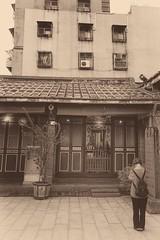 Temple Prayer (alex in bkny) Tags: taipei taiwan temple xt20 fujifilm sepia iso200 16mm f80 115sec
