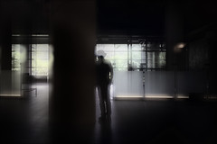 F_MG_4417-1-Canon 6DII-Tamron 28-300mm-May Lee 廖藹淳 (May-margy) Tags: maymargy 人像 portrait 背影 viewfromback 逆光 backlighting 剪影 silhouette 玻璃牆 glasspanels 柱子 column 重複曝光 doubleexposure 模糊 散景 blur bokeh 美術館 artmuseum 街拍 streetviewphotography 線條造型與光影 linesformandlightandshadow 天馬行空鏡頭的異想世界 mylensandmyimagination 心象意象與影像 幾何構圖 點人 humaningeometry humanelement 台中市 台灣 中華民國 台灣攝影師 taiwanphotographer taichungcity taiwan repofchina