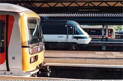 43004_165107_165123GB_Reading_140599 (Catcliffe Demon) Tags: railways railroading uk merlin firstgreatwestern fgw gwml hst hsdt greatwesternmainline class43 paxman valenta ukrailimages1999 berkshire powercar diesellocomotive highspeedtrain