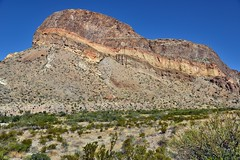 A Look Across the Layers and Colors of Rock in Burro Mesa (Big Bend National Park)