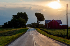 Road (ramseybuckeye) Tags: morning barn farm road putnam county ohio trees sky clouds sun old state route 12