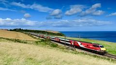 Perseverance pays off! (legomanbiffo) Tags: city scottish class burnmouth borders 91 inter 225 dvt lner 82223 sea coast railway