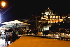 Porto, meu porto (Janne Souza Photography) Tags: tree night douro river bridge sky europe porto portugal morning street clouds summer travel canon buildings city urban landscape light boat cathedral church restaurants