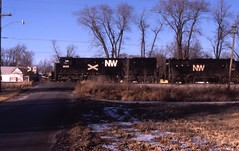 Winter westbound (ujka4) Tags: norfolkwestern nw norfolksouthern ns c307 8055 niantic illinois il