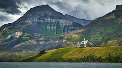 The Prince Of Wales (Valley Imagery) Tags: waterton lakes national park hotel prince wales mountain lodge lake water rain cloud sony a99ii 70400gii