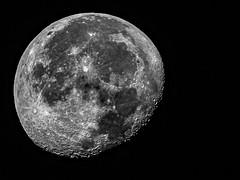 Amman Morning Moon-2 (waning gibbous), B&W, Amman, Jordan (MikeM_1201) Tags: moon amman jordan morning waninggibbous astro hd1689 pisces lightyears apollo lunar crater moonlanding star