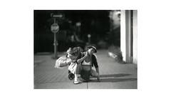 (WOGO*) Tags: poverty portrait bw film analog polaroid bokeh d super hastings downtowneastside expired dtes aero graflex getto ektar 665 instantfilm 178mm