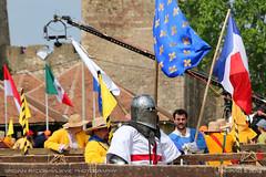 Winner of the fight (srkirad) Tags: sports armor fight fighting battleofthenations medieval fortress smederevo serbia srbija warriors flags judges helmet
