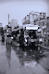 thunderstorm 2 ave bus (sjnnyny) Tags: stevenj sjnnyny bw mono defocused rain nyc streetview nylife urband750 tarmon35150f2840 outoffocus blur busstop secondavenue east14street eastvillage