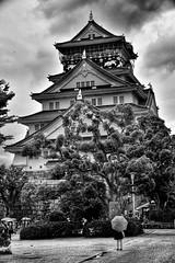 Osaka - Castle (Mark_66it) Tags: osaka japan nikon d810 blackwhite blackandwhitephotography bnw