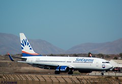 SUN EXPRESS B737 D-ASXU (Adrian.Kissane) Tags: aviation runway airport sky outdoors airline airliner 737 boeing jet plane aircraft aeroplane 29671 592017 b737 dasxu lanzarote sunex