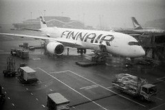 (Ah - Wei) Tags: contaxt2 kentmere400bw bw film airport aircraft