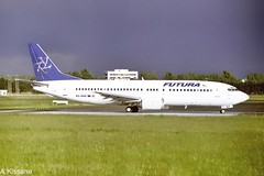 FUTURA B737 EC-GNZ (Adrian.Kissane) Tags: grass sky aviation ireland airport runway departing outdoors 737 boeing airline airliner jet plane aircraft aeroplane 25178 2000 b737 ecgnz shannonairport shannon futura