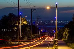 D69_0805 (brook1979) Tags: 台中 大肚 藍色公路 公路 高地 台地 車道 夕陽 taiwan 台灣 taichung road sunset