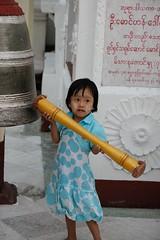 When you hear the gong..... (DepictingPhotos) Tags: asia buddhists burma children stupas yangon