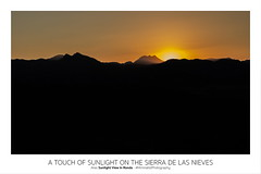 A Touch Of Sunlight On The Sierra De Las Nieves - Experiment with Passpartout (Björn Hempel) Tags: spain 2013 ronda sky sunlight sunset postcard passpartout minimalistphotography art spanien minimalistischefotografie postkarte