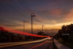 D69_0780 (brook1979) Tags: 台中 大肚 藍色公路 公路 高地 台地 車道 夕陽 taiwan 台灣 taichung road sunset