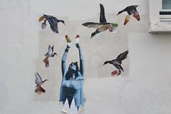 Marquise_2305 rue André Barsacq Paris 18 (meuh1246) Tags: streetart paris paris18 buttemontmartre animaux marquise rueandrébarsacq oiseau canard