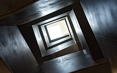 Vertigo - Explored (DobingDesign) Tags: contrast lines darkandlight angles squares abstract stairwell light upordown line geometric pattern repeatingpattern texture daylight levels storeys vortex diamond interiorarchitecture