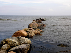 Breakwater (olaf_alien) Tags: breakwater latvia mersrags baltic sea stones summer landscape water nature waves sky olafalien dižciems talsimunicipality latvija beach olympus sp550uz