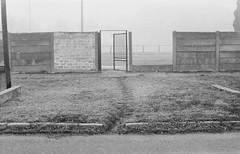 Failed Gate (Attila Pasek (Albums!)) Tags: analogue hp5 battonya street ricoh kr5 blackandwhite camera bw gate ilford 35mm film fence