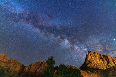 Milky Way at Zion National Park (chengyx2) Tags: milkyway astro astrophotography star galaxy night longexposure nature landscape sky light universe deepscape outdoors saddlebag camping outdoor roadtrip tree watchman zionnationalpark utah sony a7r3 a7riii
