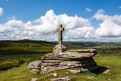The Cave-Penney Cross - Corndon Down, Dartmoor - NK2_8100 (Jean Fry) Tags: memorial crosses devon dartmoor moorland englanduk dartmoornationalpark corndondown cavepenneycross uk clouds rocks westcountry yartor nearsherwell dartmoorcrosses
