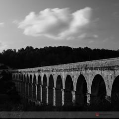 Acueducto de les Ferreres (borjamuro) Tags: acueducto architecture bridge arquitectura puente nubes clouds landscape ferreres pontdeldiable tarragona españa catalunya roman romano ruins ruinas tarraco landscapes movingsky largaexposición longexposure bw bn tokina nikon d7100 history blanco negro black white
